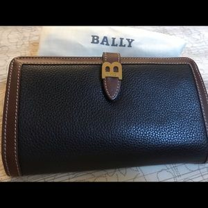 Bally check book wallet with coin purse on side